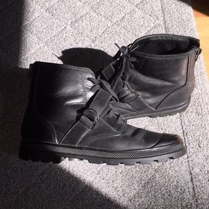 Vintage Helmut Lang Leather Boots fits like 9.5
